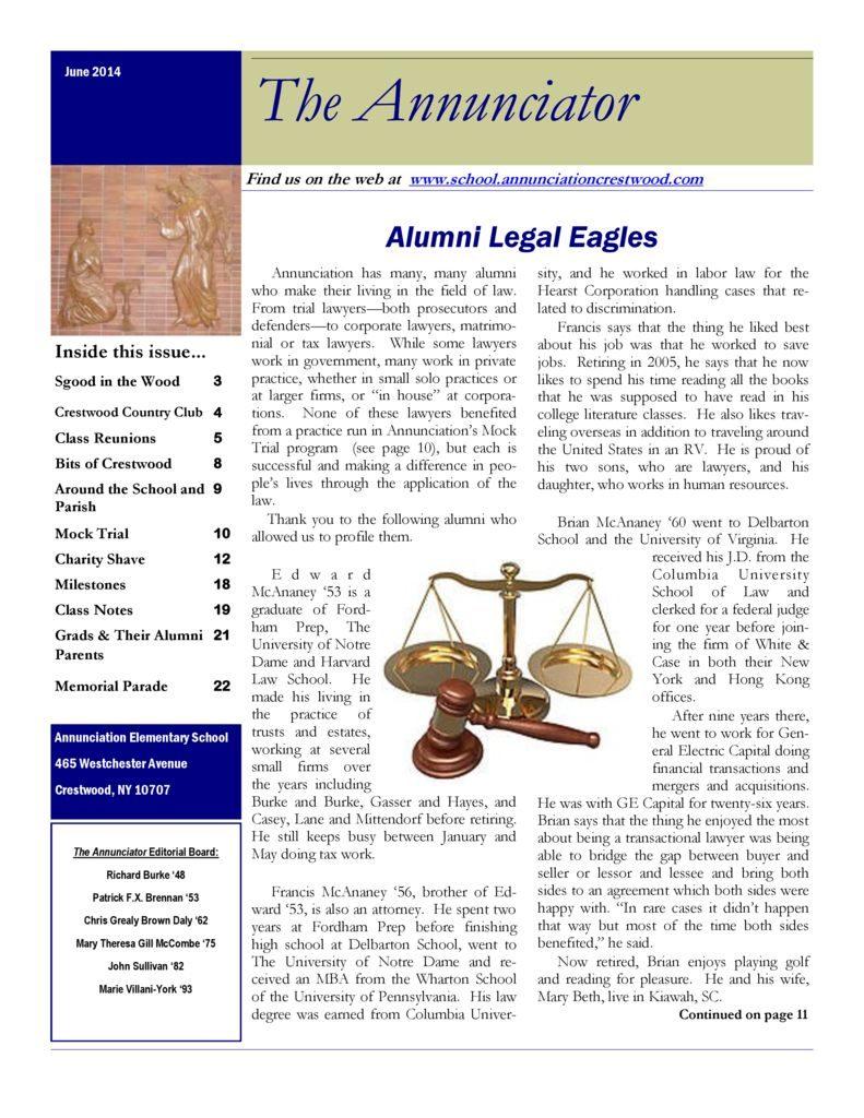 Bulletins & Publications – The Annunciation-Fatima Parish