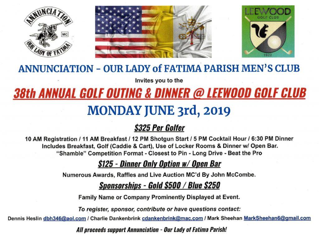 38th Annual Golf Outing @ Leewood Golf Club