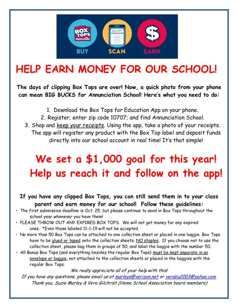 thumbnail of Box Tops Letter for Families 2019