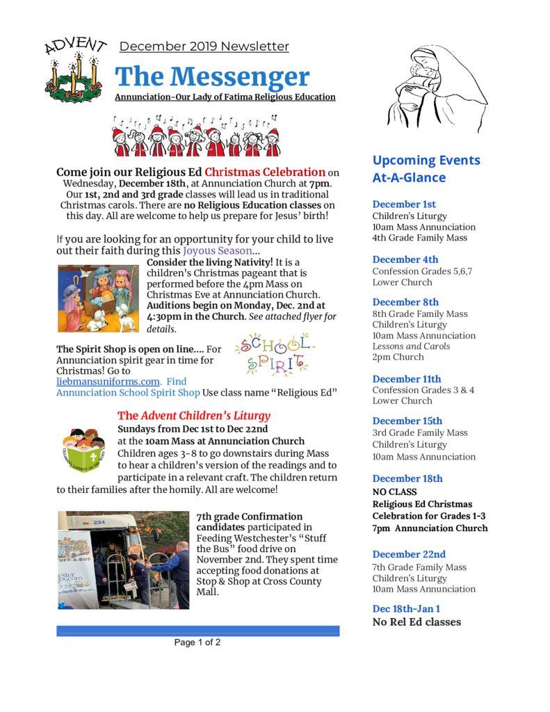 thumbnail of Religious Ed Newsletter-Dec2019 FINAL