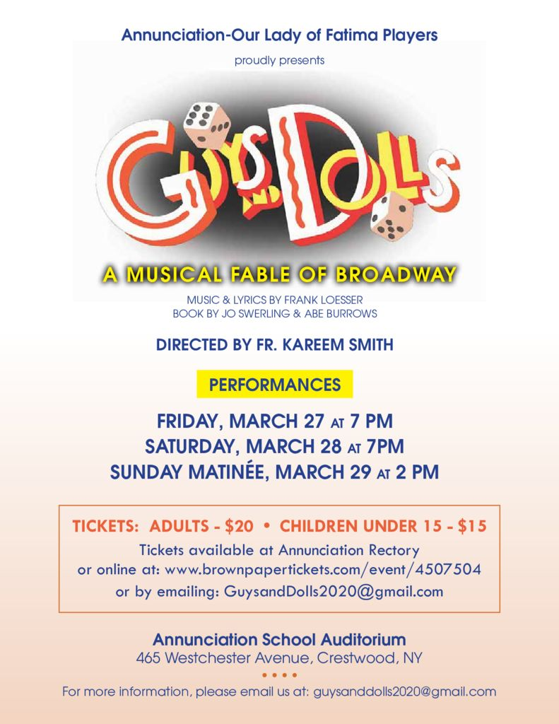 thumbnail of Guys and Dolls – ticket flyer