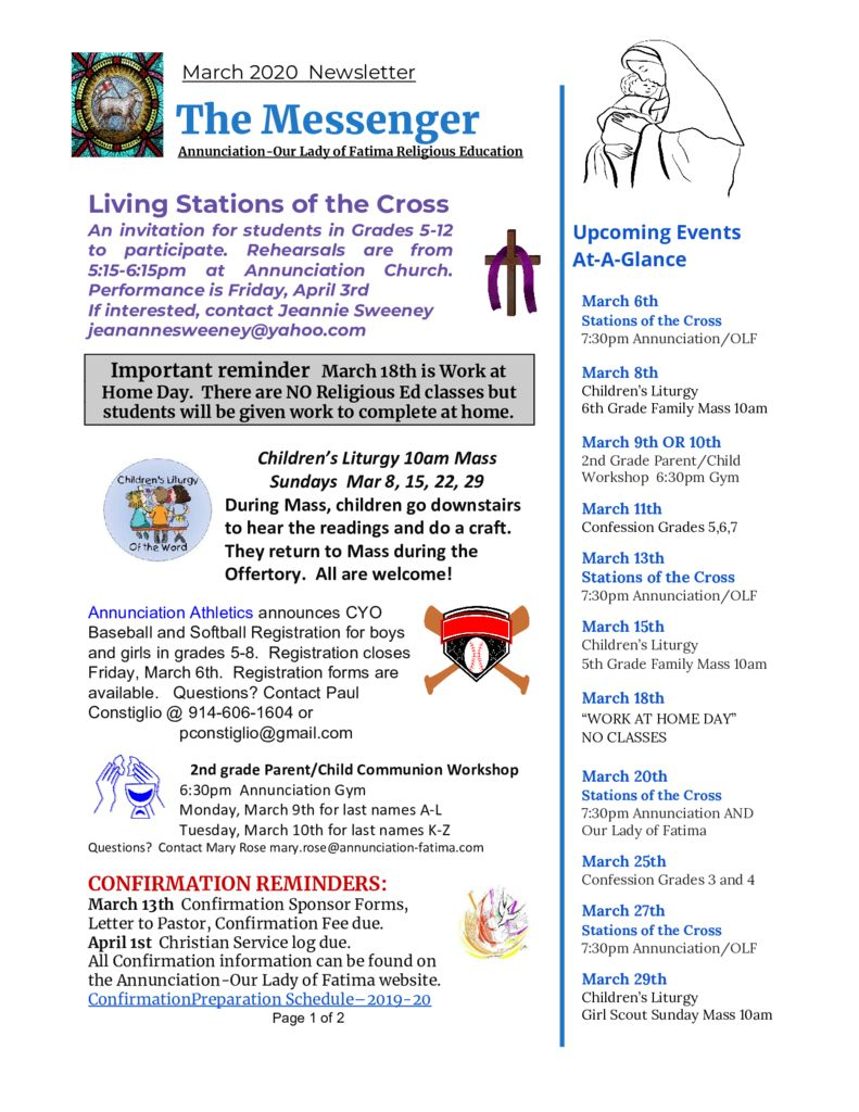 thumbnail of Religious Ed Newsletter-Mar 2020