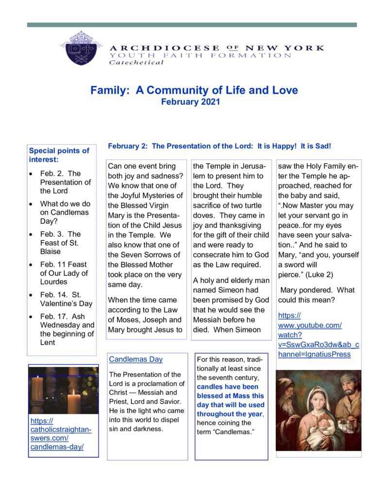thumbnail of Catechetical-Family-newsletter-February2021